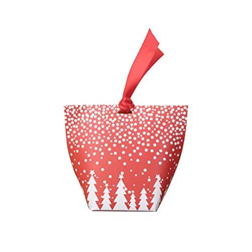 üßigkeit-Kasten mit Band Faltbar Papier Cookies Kekse Plätzchen Candy Box Weihnachts Geschenk Box Dekor für Festival Bankett Party ()