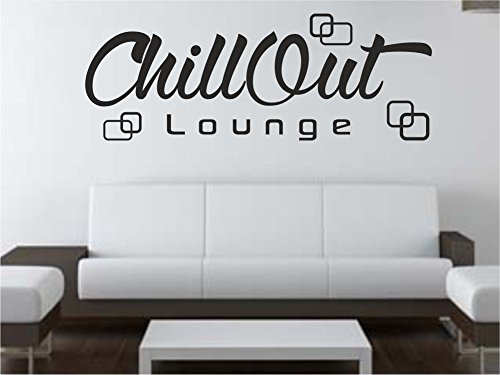 x-modeling Wandtattoo Chill Out Retro Lounge Wohnzimmer Schlafzimmer Sprüche M2115 weiss 120cm x...