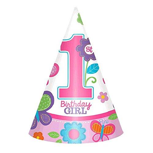 amscan Sweet Mädchen ersten Geburtstag Kegel Hüte