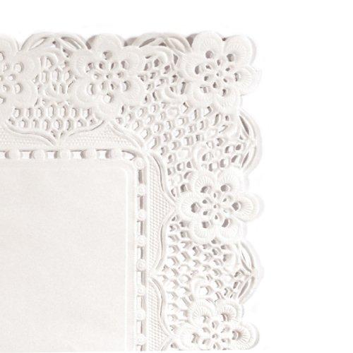 Garcia de pou 250unità centrini rettangolari, 40x 30cm, carta, bianco, 40x 30x 30cm