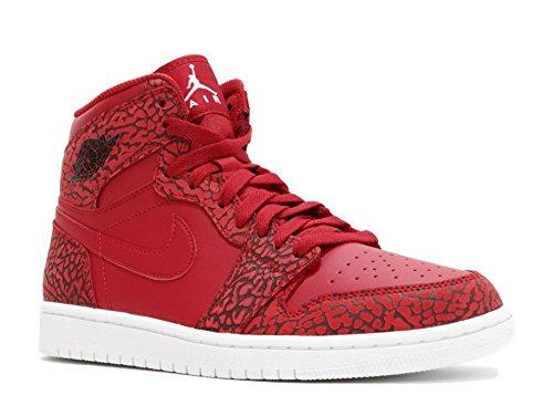 Nike Damen Air Jordan Vintage Freizeit Oldschool Basketballschuh gym red, white-team red-white