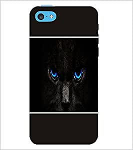 PrintDhaba Cat Eyes D-1422 Back Case Cover for APPLE IPHONE 5C (Multi-Coloured)