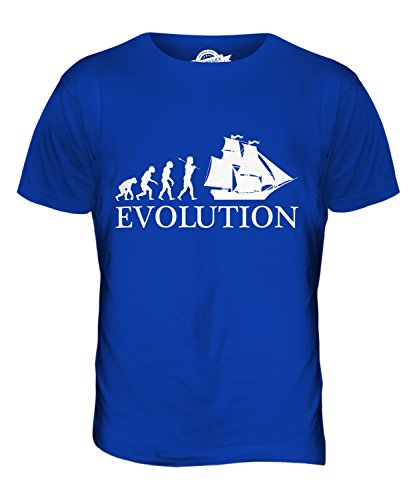 CandyMix Brigantine Evolution Des Menschen Herren T Shirt Königsblau