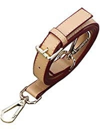 123Arts Adjustable Synthetic Leather Quality Replacement Interchangeable Shoulder Bag Strap Bag Accessories -Beige