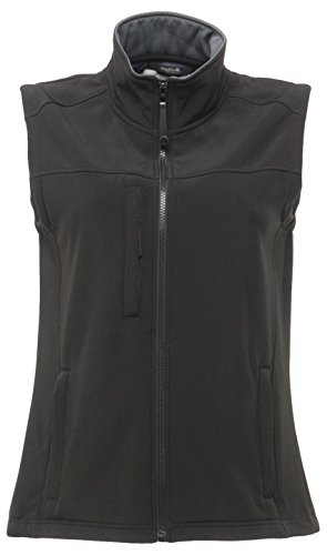 Regatta Damen Softshell-Gilet/-Weste Flux, 1 Stück, DE38/12UK, schwarz/grau, LSH0002964G1341F2627