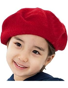 Gorro de lana Gorro de gorro - Niños Estilo francés clásico color sólido Art Winter Autumn Hat Boina