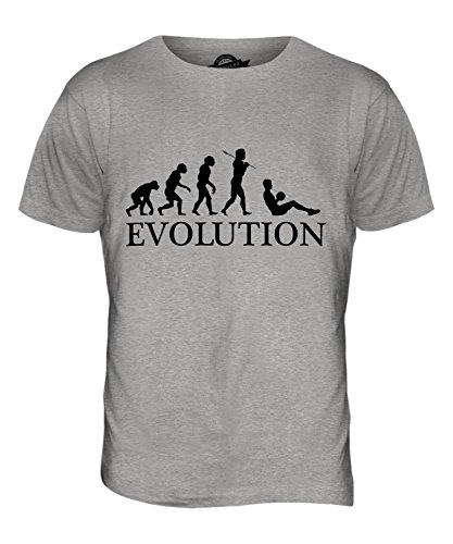 CandyMix Sit-Up Evolution Des Menschen Herren T Shirt Grau Meliert
