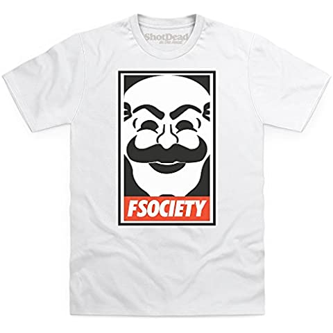 Inspired By Mr Robot - Obey fsociety Camiseta, Para hombre