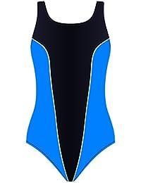 Damen Badeanzug Schwimmanzug mit Soft Cups Schwimmer Sport SK031