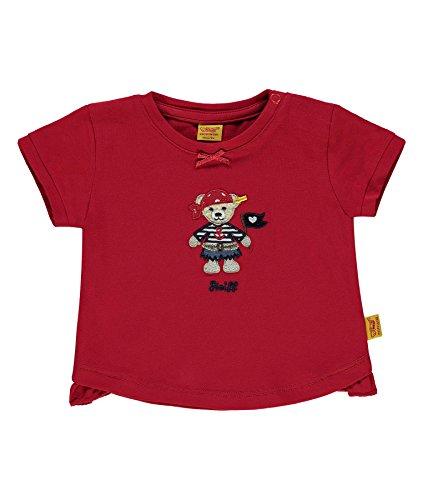 (Steiff T-Shirt weich Jersey Pirat Mädchen tango red