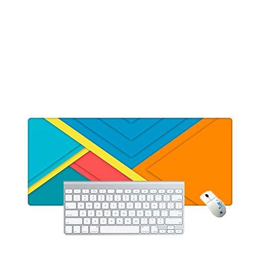 Haofengjing Mauspad Einfaches Quadratisches Bild Gaming Mouse Mat, Genähte Kanten Mauspad Mit Premium-Strukturierte Oberfläche Mauspad Gaming Mouse Pad, 400X800X3Mm (Bild Quadratisches Mat)