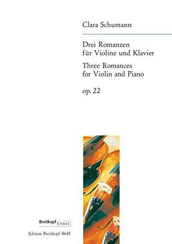 Drei Romanzen Op. 22 Violon