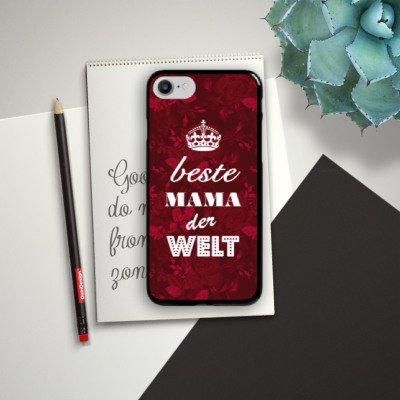 Apple iPhone X Silikon Hülle Case Schutzhülle Muttertag Geschenk Geschenkidee Hard Case schwarz