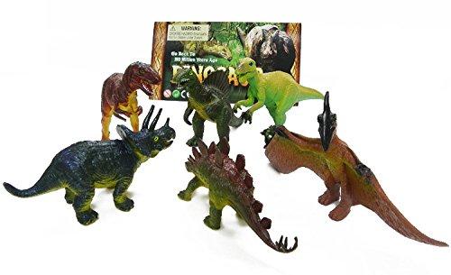 GINOVO-6-piezas-de-tamao-ms-grande-5-dinosaurios-Figuras-Juguetes