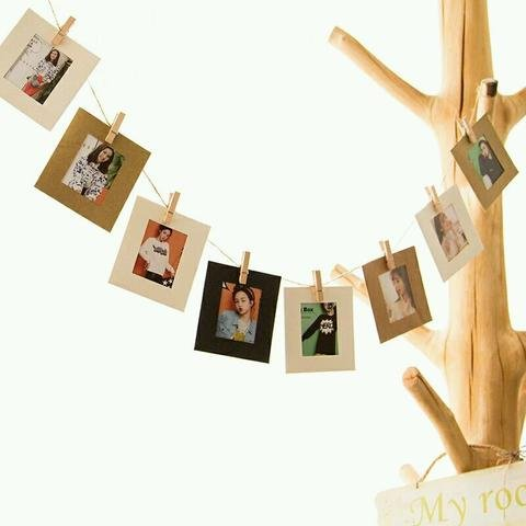 My Party Suppliers 10 Pieces Kraft Paper Picture Frame With Hemp Rope...