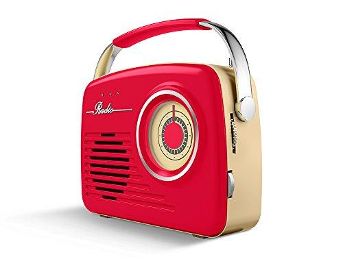 AKAI R100 - Radio Vintage Am/FM con USB, SD, AUX IN, 11W,...