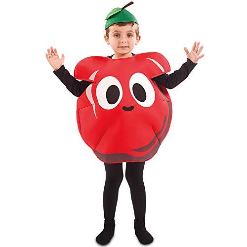 Erdbeer Kinder Kostüm - EUROCARNAVALES Kinder Kostüm Früchtchen 3-4 Jahre Frucht-Verkleidung Obst (Erdbeere)