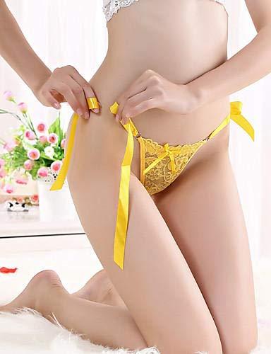 Tanga de cintura baja de color Amarillo