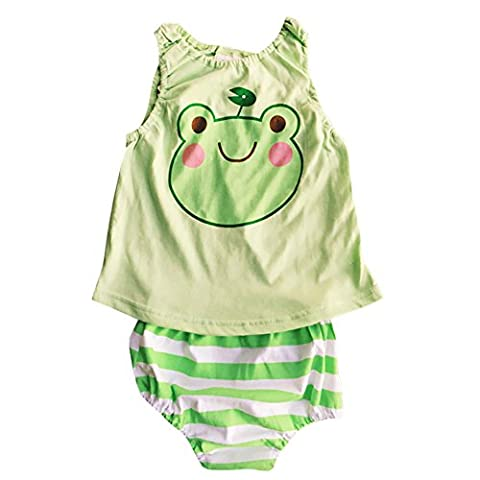 Cutelove Newborn Infant Baby Girls 8pcs Clothes Set Summer Cartoon Jumpsuits Baby Rompers Sunsuit