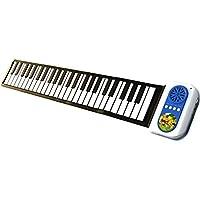 Piano Piano de juguete para niños, Piano infantil electrónico con altavoz incorporado, modo aprendizaje, completamente elástico 49 teclas funcion demo con ritmos, melodías y tonos, ideal para bebés / niños / niñas (Color Azul)