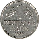 Die Sammlerwelt 1 Deutsche Mark 1950 (Jäger: 385) VZ - Münzstätte: G - Karlsruhe