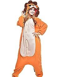 Samgu-Lion animal Pyjama Cospaly Party Fleece Costume Deguisement Adulte Unisexe