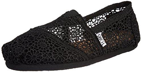 Toms Crochet Damen Schuhe Schwarz, Black, 37.5 EU - Damen Toms Schuhe Spitze