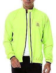 4ucycling ungefütett Wind–Chaqueta cortavientos resistente al viento Chaquetas de Quick Dry Jacket bicicleta chaqueta, primavera, hombre, color verde, tamaño Gewicht:65-75KG Größe:165-170CM L