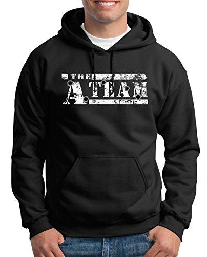 se TLM The A-Team Logo Bullit Kapuzenpullover Herren S Black (Team America Halloween-kostüme)