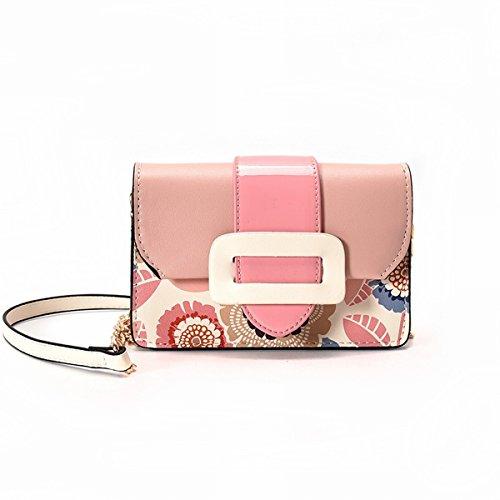 Hit farbdruck kleine paket mode Kette paket casual Schulter messenger Rosa