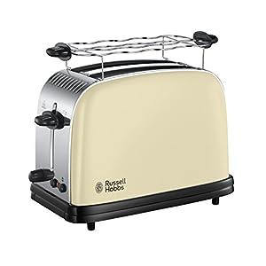Russell Hobbs 23334-56 Colours Plus+ Classic Cream Toaster, 6 einstellbare Bräunungsstufen, 2 extra breite Toastschlitze, creme