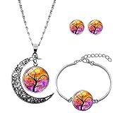 1 Baum Der Lebenslangen Hängenden Halskette Armbänder Leiter Ohrringe Personalisierte Halskette Armband Stil 7