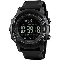 Hemobllo Uhr Digital Sport Stoppuhr Armbanduhr mit Wecker für Herrn Laufen Sport (Schwarz)