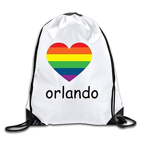 EELKKO Pray for Orlando Drawstring Backpacks Sack Bags