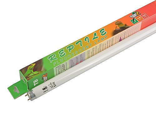 Lucky Herp 5,0 Fluoreszierende Terrarienlampe UV-Leuchtmittel, 18 W, T8 -