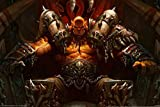 Excellent Legno Puzzle, World of Warcraft Poster, focolare di Pietra Gioco Illustrazione, 300~1500 Pezzi Boxed Giocattoli Game Art for Adulti e Bambini 1224 (Color : H, Size : 1500pc)