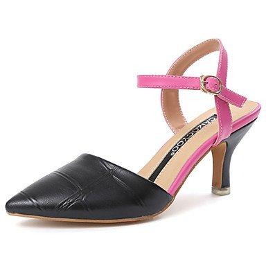 Sandales femmes Confort d'été occasionnels de PU Balades Boucle Talon bas Black