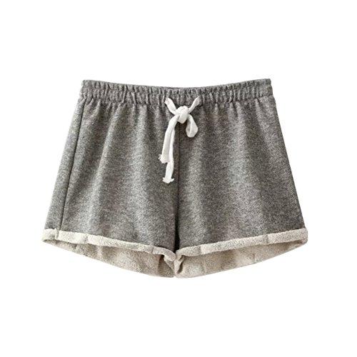 Etosell Femmes Casual De Taille Haute D'ete lache Short Pantalon Gris