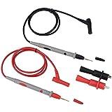 fosa Kit de Cables de Pruebas Electrónicas con Conector Tipo Banana,Puntas de Prueba para Multímetro con Sonda de Plomo y Pinzas de Cocodrilo,1000V 20A