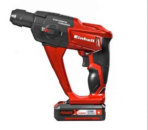Einhell Expert Martillo perforador y cincelador Power X-Change TE-HD 18 Li Kit 18V con luz led, 5700...