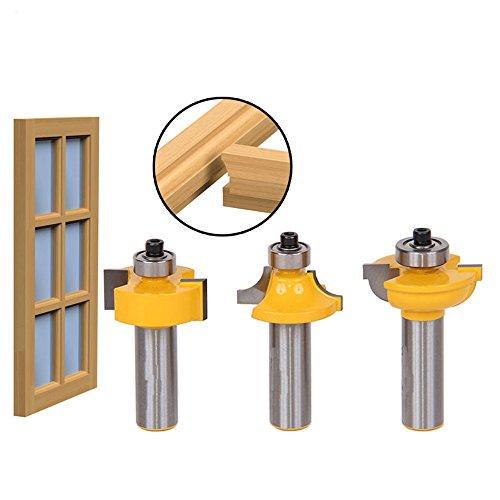 AKUTA 1/2Schaft T Typ Ballnose 3Glas Tür Plank Holz arbeiten Tools curboard Rohrabschneider Router Bits