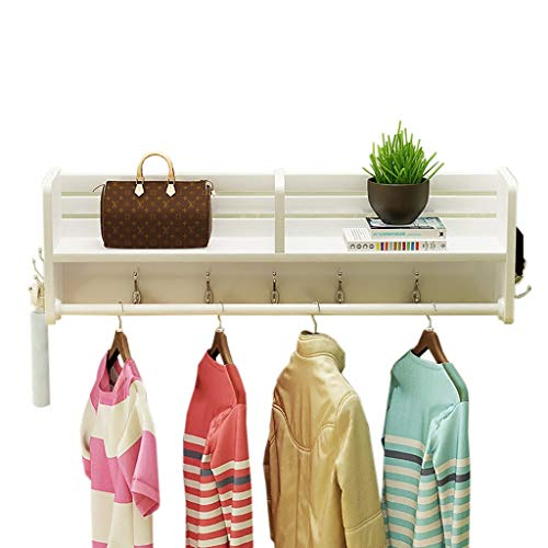 Porte-manteau mural blanc multifonctionnel, crochets muraux pour étagères murales en bois massif disponibles dans une variété de tailles (taille : 40 * 16.5 * 25cm)