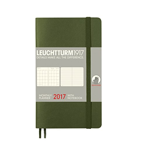 Faro 1917348309Planning mensile con taccuino Pocket (A6) 2017, Soft Cover Army, inglese