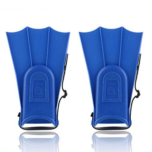 Pixnor Los niños regulable snorkel aletas peso ligero natación aletas natación buceo herramientas de aprendizaje (azul)