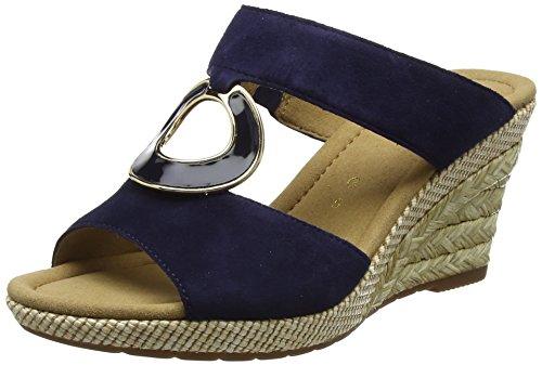 Gabor Shoes Damen Comfort Sport Pantoletten, Blau (Blue (Bast)), 37.5 EU (Blue Comfort-clogs)