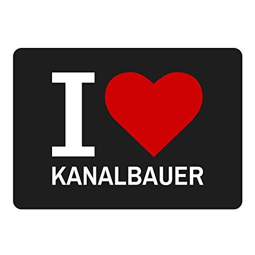 Mousepad Classic I Love Kanalbauer schwarz (507 Cap)