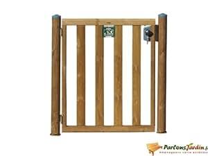 Portillon en bois pour clôture de piscine L95cm Donegal