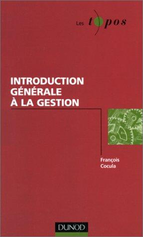 Introduction générale à la gestion