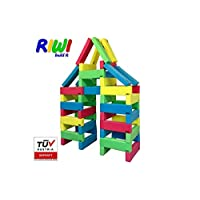 RIWI 40 XXL Building Bricks | Soft Foam Blocks | Machine Washable | TÜV Austria Certified | Made in Europe