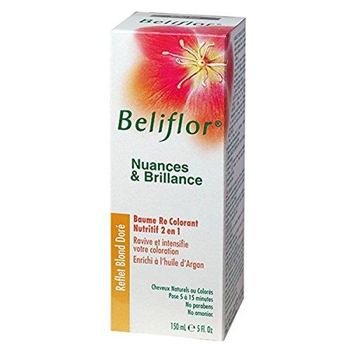 Beliflor02-Nuances et Brillance 2 en 1 coloration douce + baume capillaire 'Reflets Blond Doré' BIO-150ml